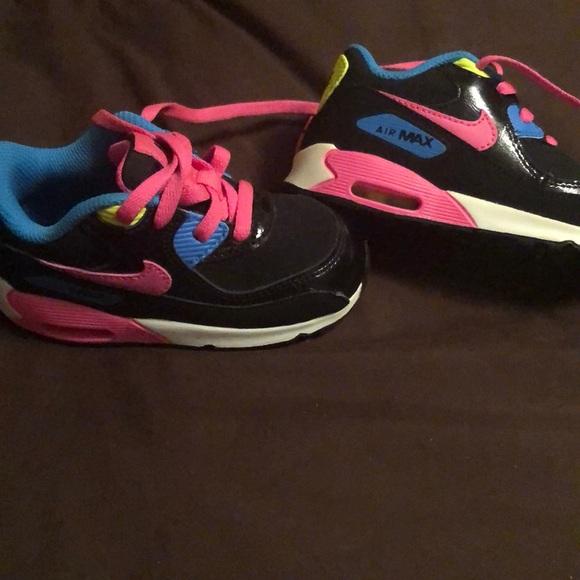 Baby girls Nike AirMax size 7c.